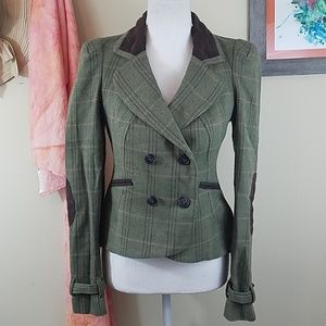 Willow & Clay Sm Double Breasted Green Blazer